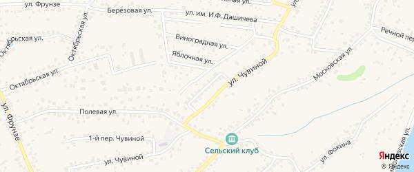 2-й Чувиной переулок на карте села Супонево с номерами домов