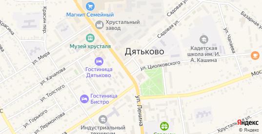Площадь Ленина в Дятьково с номерами домов на карте. Спутник и схема онлайн
