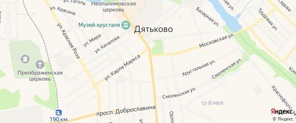 ГСК ГБ во дворе дома 133 по ул Ленина на карте Дятьково с номерами домов