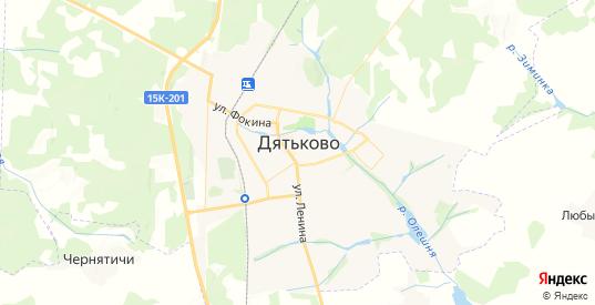 Карта Дятьково с улицами и домами подробная. Показать со спутника номера домов онлайн
