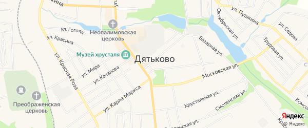 Территория ГСК-5 на карте Дятьково с номерами домов