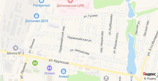 Больничный переулок в Дятьково с номерами домов на карте. Спутник и схема онлайн