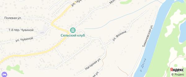 Улица Фокина на карте села Супонево с номерами домов
