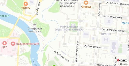 Улица Робеспьера в Ржеве с номерами домов на карте. Спутник и схема онлайн