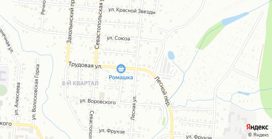Лесная улица в Ржеве с номерами домов на карте. Спутник и схема онлайн