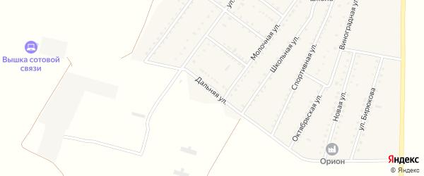 Дальняя улица на карте Ровного села Крыма с номерами домов