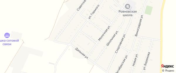 Переселенческая улица на карте Ровного села Крыма с номерами домов