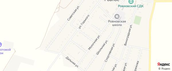 Садовая улица на карте Ровного села Крыма с номерами домов