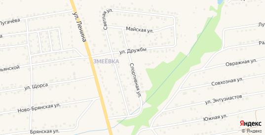 Спортивная улица в Дятьково с номерами домов на карте. Спутник и схема онлайн