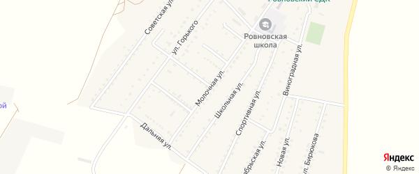 Молочная улица на карте Ровного села Крыма с номерами домов