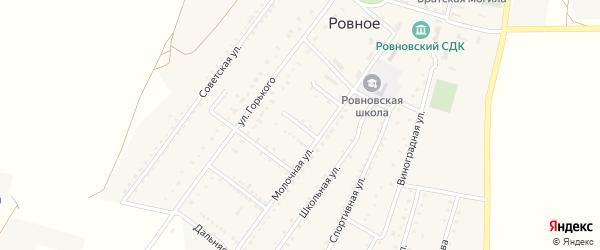 Крымская улица на карте Ровного села Крыма с номерами домов