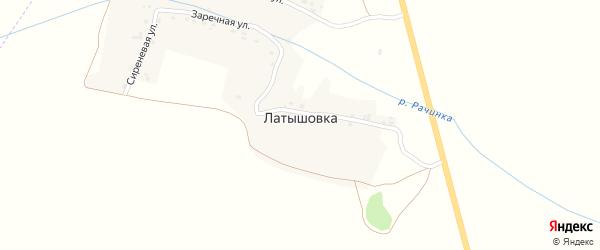 Сиреневая улица на карте деревни Латышовки с номерами домов