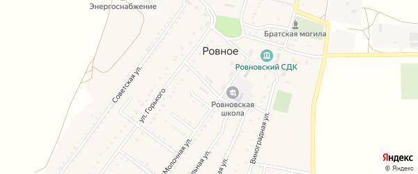 Центральная улица на карте Ровного села Крыма с номерами домов