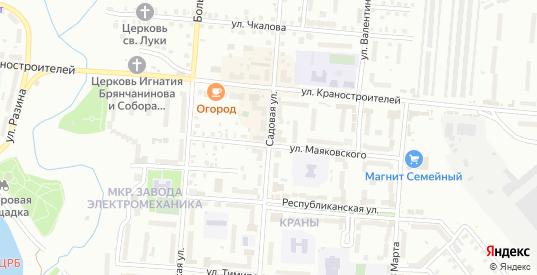 Садовая улица в Ржеве с номерами домов на карте. Спутник и схема онлайн
