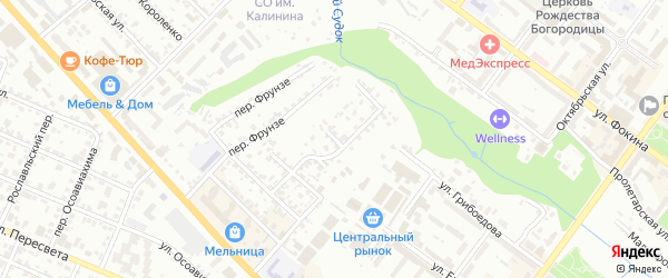 Нижний переулок на карте Брянска с номерами домов