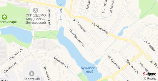 Октябрьская улица в Дятьково с номерами домов на карте. Спутник и схема онлайн