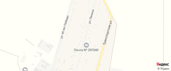 Улица Ленина на карте Ровного села Крыма с номерами домов