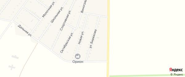 Улица Бирюкова на карте Ровного села Крыма с номерами домов
