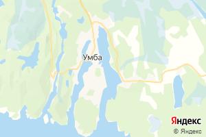 Карта пос. Умба Мурманская область