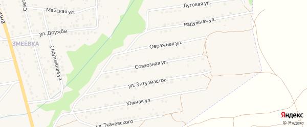 Совхозная улица на карте Дятьково с номерами домов