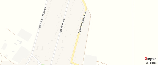 Транспортная улица на карте Ровного села Крыма с номерами домов