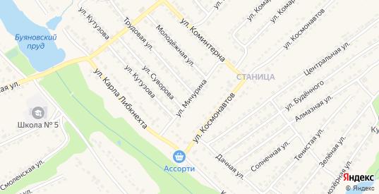 Улица Мичурина в Дятьково с номерами домов на карте. Спутник и схема онлайн