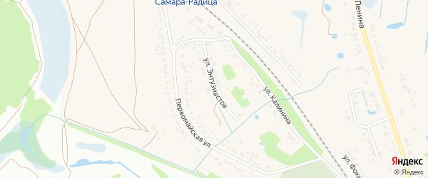 Улица Энтузиастов на карте поселка Радицы-Крыловки с номерами домов