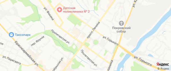 ГО N5 по ул Фосфоритная территория на карте Брянска с номерами домов