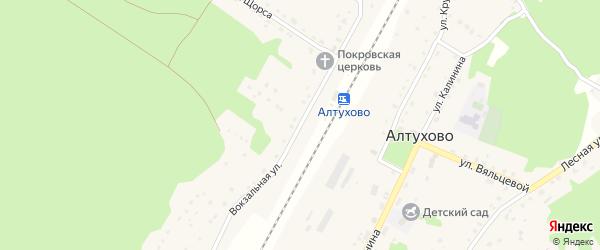 Вокзальная улица на карте поселка Алтухово с номерами домов