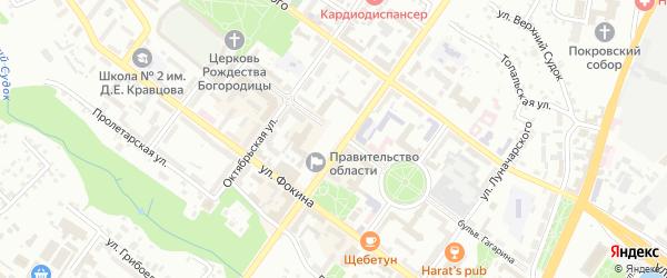 1-й Карьерный проезд на карте Брянска с номерами домов