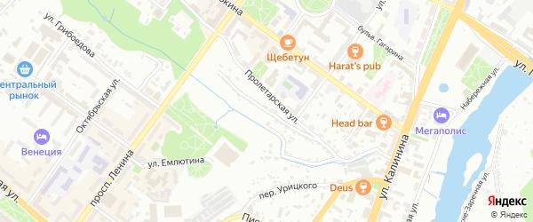 Мало-Фокинский переулок на карте Брянска с номерами домов
