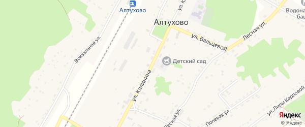 Улица Калинина на карте поселка Алтухово с номерами домов