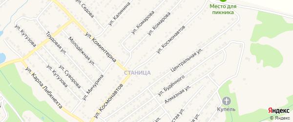 Улица Космонавтов на карте Дятьково с номерами домов