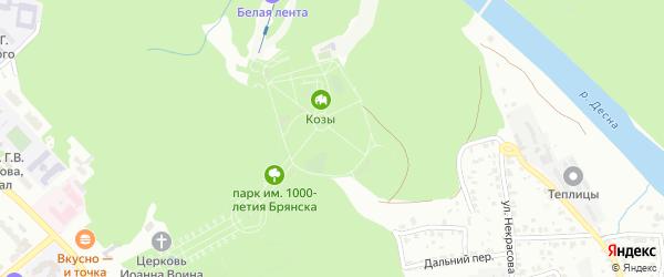 Территория ГО Хлебзавод на карте Брянска с номерами домов