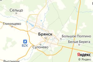 Карта г. Брянск Брянская область