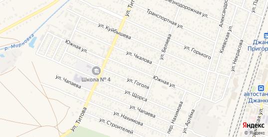 Южная улица в Джанкое с номерами домов на карте. Спутник и схема онлайн