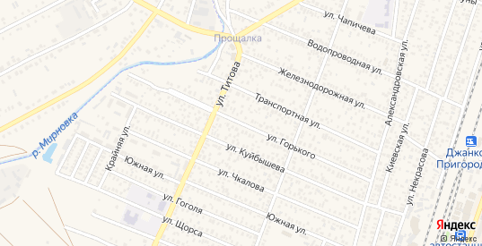 Улица Горького в Джанкое с номерами домов на карте. Спутник и схема онлайн