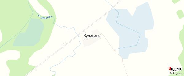 Карта деревни Кулигино в Смоленской области с улицами и номерами домов