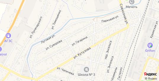 Улица Гагарина в Джанкое с номерами домов на карте. Спутник и схема онлайн