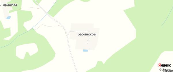Карта деревни Бабинского в Тверской области с улицами и номерами домов