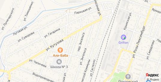 Переулок Энгельса в Джанкое с номерами домов на карте. Спутник и схема онлайн