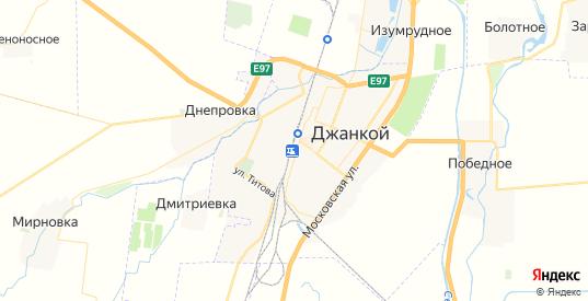 Карта Джанкоя с улицами и домами подробная. Показать со спутника номера домов онлайн