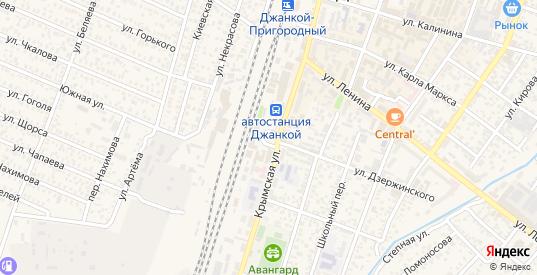 Мирновский переулок в Джанкое с номерами домов на карте. Спутник и схема онлайн