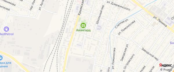 Спортивный переулок на карте Джанкоя с номерами домов