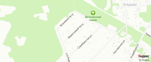 Вересковый проезд на карте района Кукковки с номерами домов