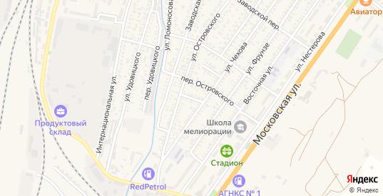Переулок Лермонтова в Джанкое с номерами домов на карте. Спутник и схема онлайн