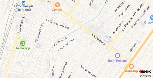 Речной переулок в Джанкое с номерами домов на карте. Спутник и схема онлайн