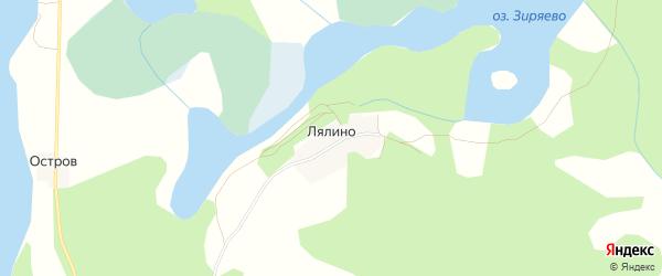 Карта деревни Лялино в Тверской области с улицами и номерами домов