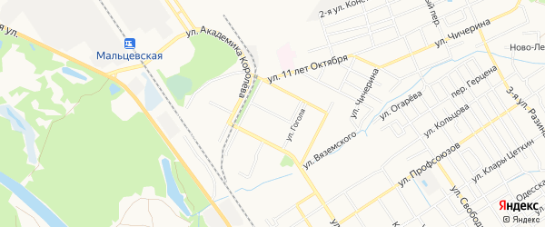 Территория БГ по ул Воровского на карте Брянска с номерами домов