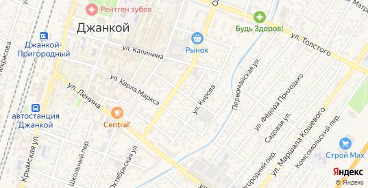 Ленинградский переулок в Джанкое с номерами домов на карте. Спутник и схема онлайн